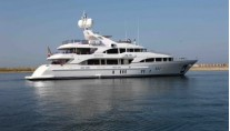 My Sisa motor yacht during sea trials